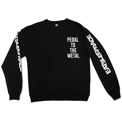 Pedal To The Metal Crewneck Sweatshirt | Black/White