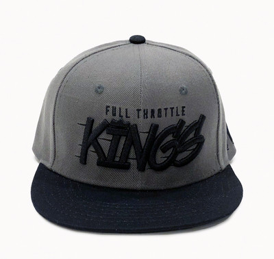 Full Throttle Kings 2 Snapback Hat | Grey/Black