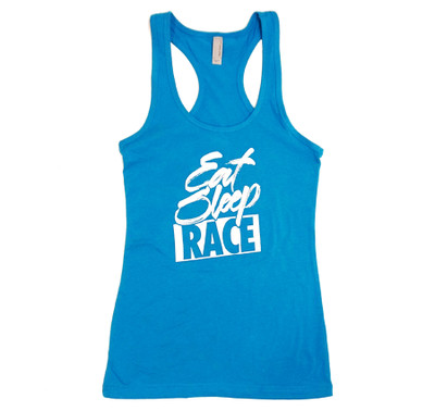 Ladies Brush Tank Top | Laser Blue