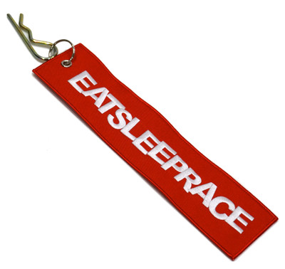 Embroidered Parachute Tag | Red