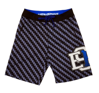 Board Shorts | Carbon Fiber Blue