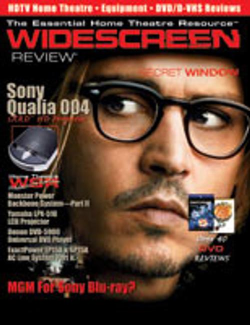Widescreen Review Issue 086 - Secret Window (July 2004)