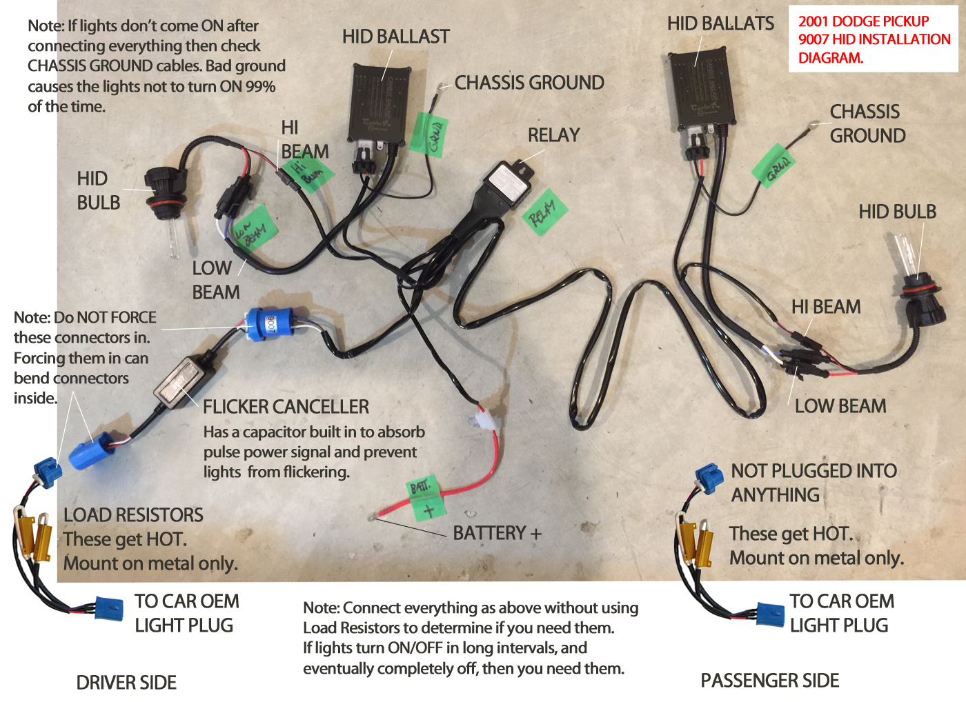 2001-dodge-9007-diagram Xenon Hid Headlight Wiring Diagram on thinline ii, proximity keypad card reader, headlight conversion, edge evo, fob reader, lighting kit, headlight relay,