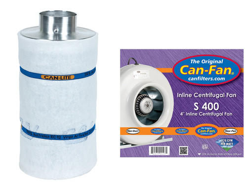 """Can Fan Complete 4"""" Fan and Filter Combo"""