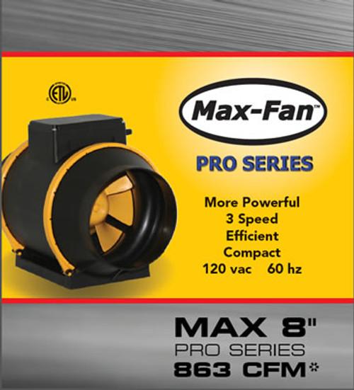 """Max-Fan 8"""" Pro-Series, 3-Speed"""
