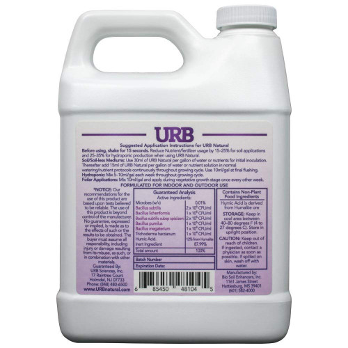 URB Natural Plant Stimulator Humic Acids and Bacteria