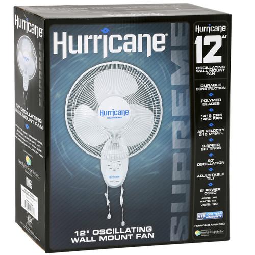 "Hurricane Supreme Wall Fan - 12"""