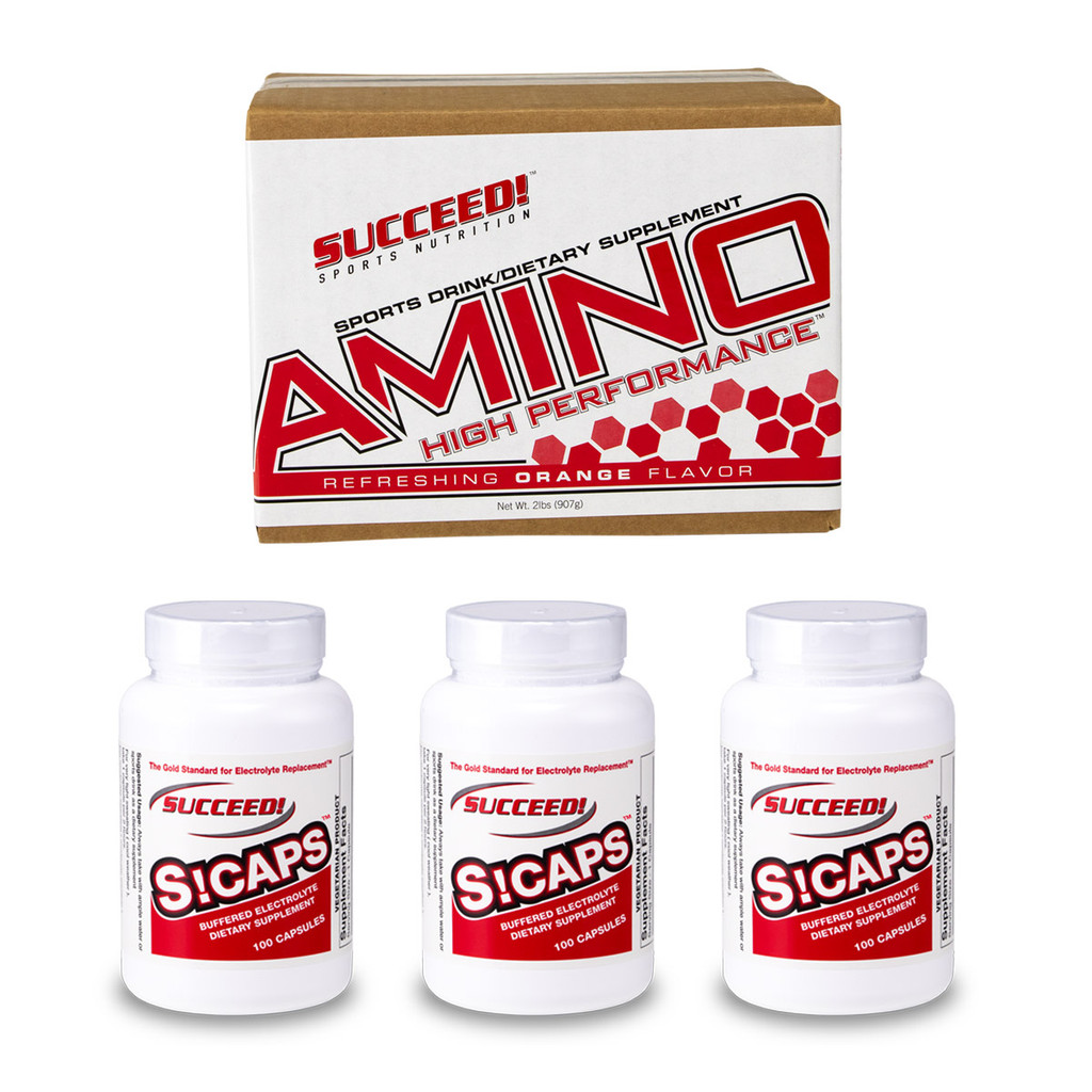 3 bottles of S Caps + 1 box of Amino (24 packets)