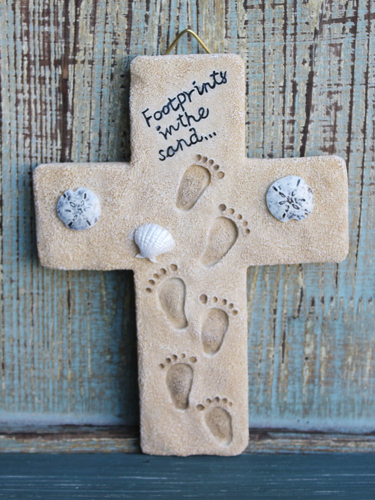 Footprints in the Sand Cross