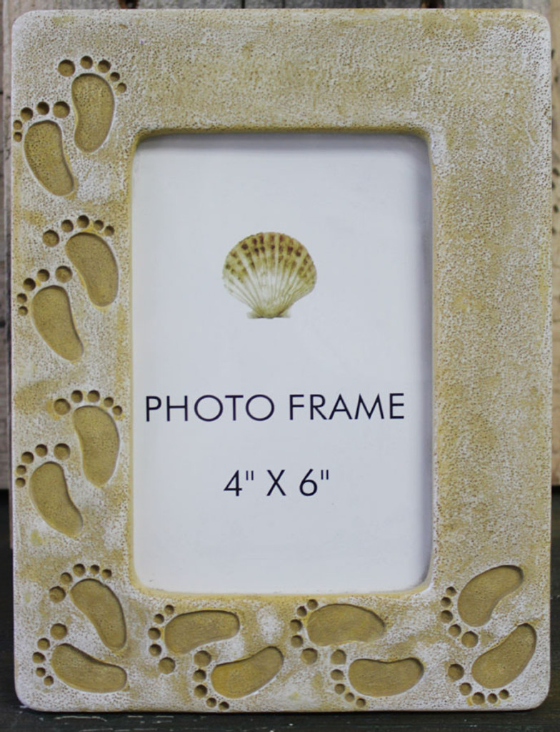 Footprints in the Sand Picture Frame - Religious Beach Decor ...