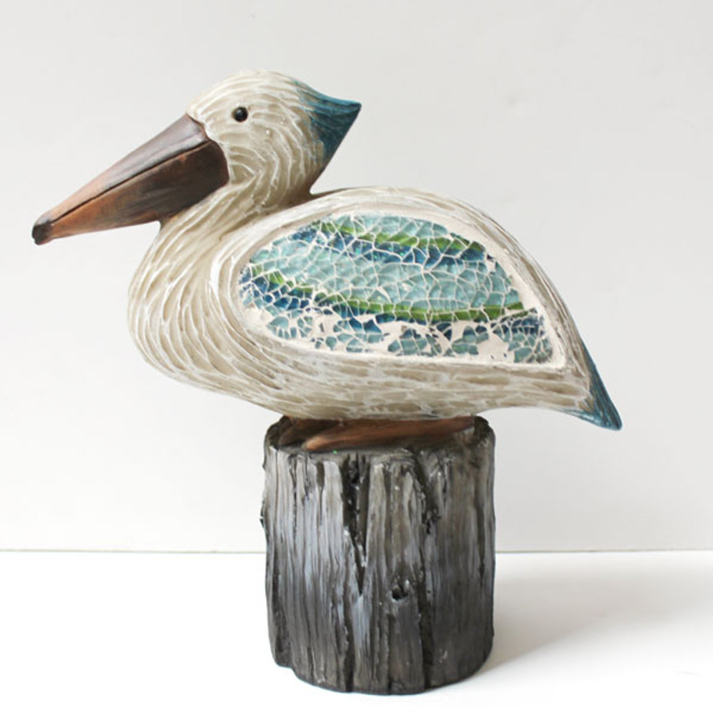 Crushed Glass Sitting Pelican