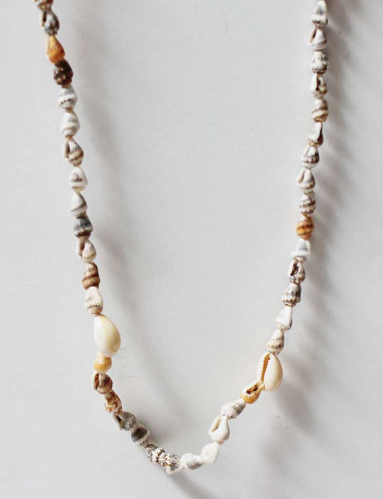 Close up of one Sea shell Lei with Cowrie shells