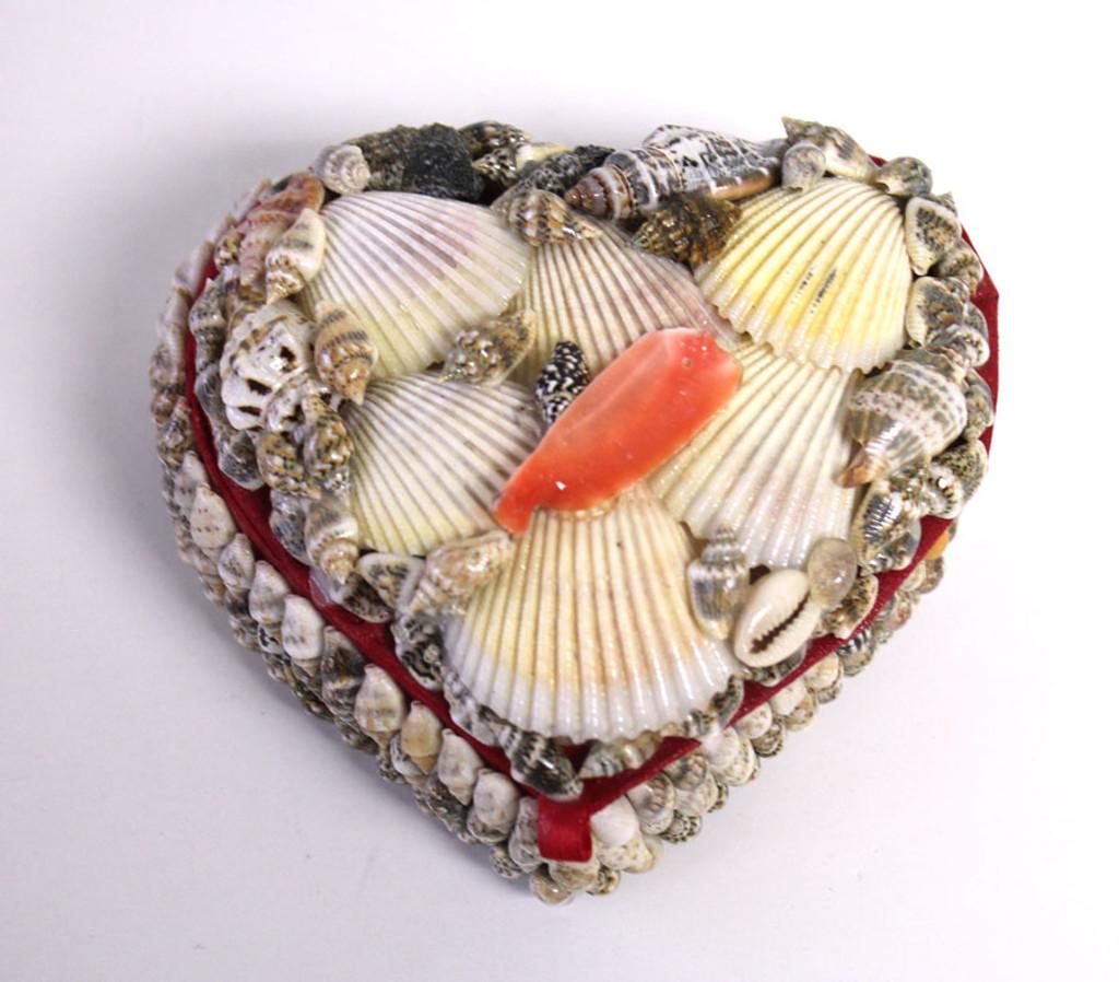 45 HeartShaped Seashell Box Shell Jewelry Box Beach Wedding