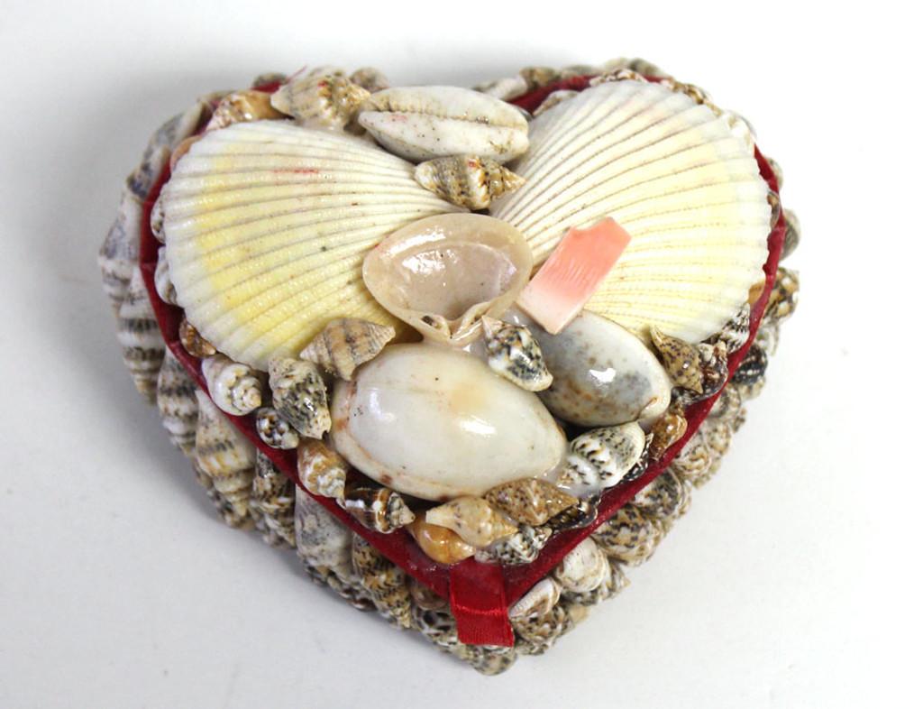 3 HeartShaped Seashell Box Shell Jewelry Box Beach Wedding