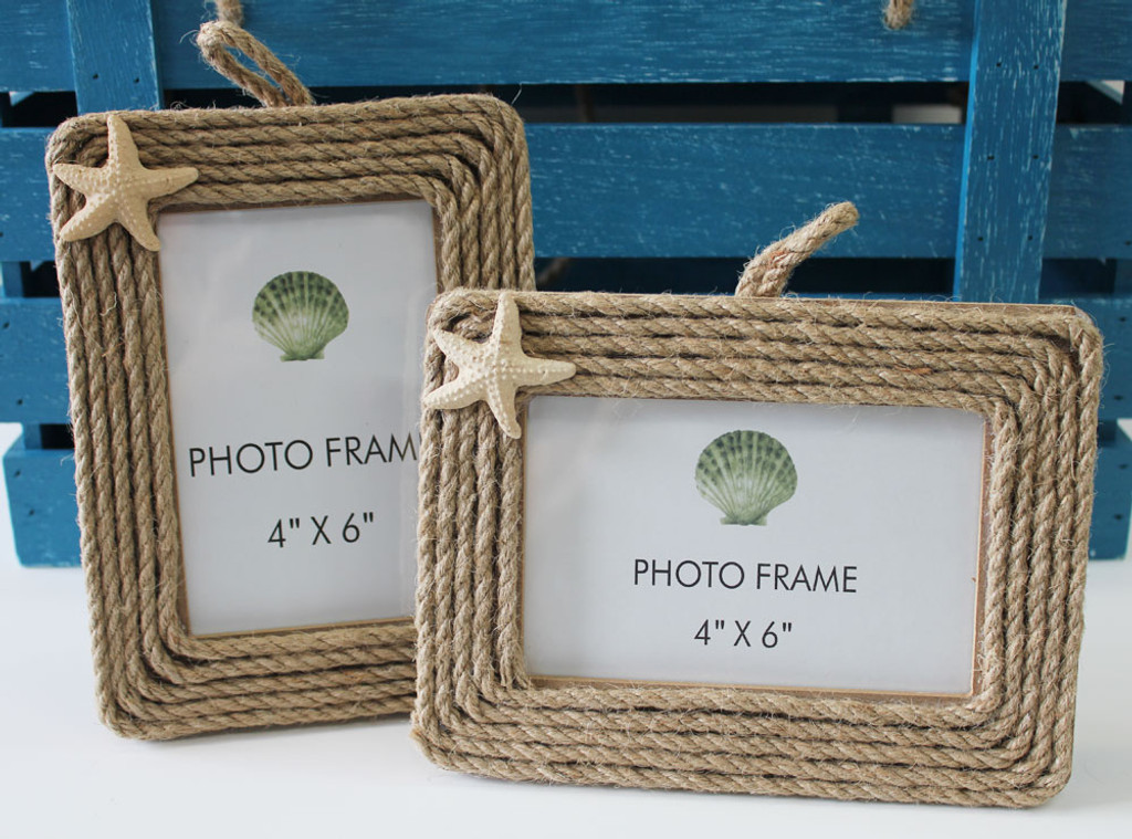 Nautical Rope 4x6 Pictures Frames with Starfish - California ...