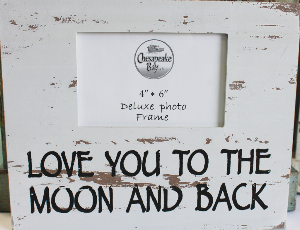 White Love You to the Moon and Back Box Picture Frame - Beach ...