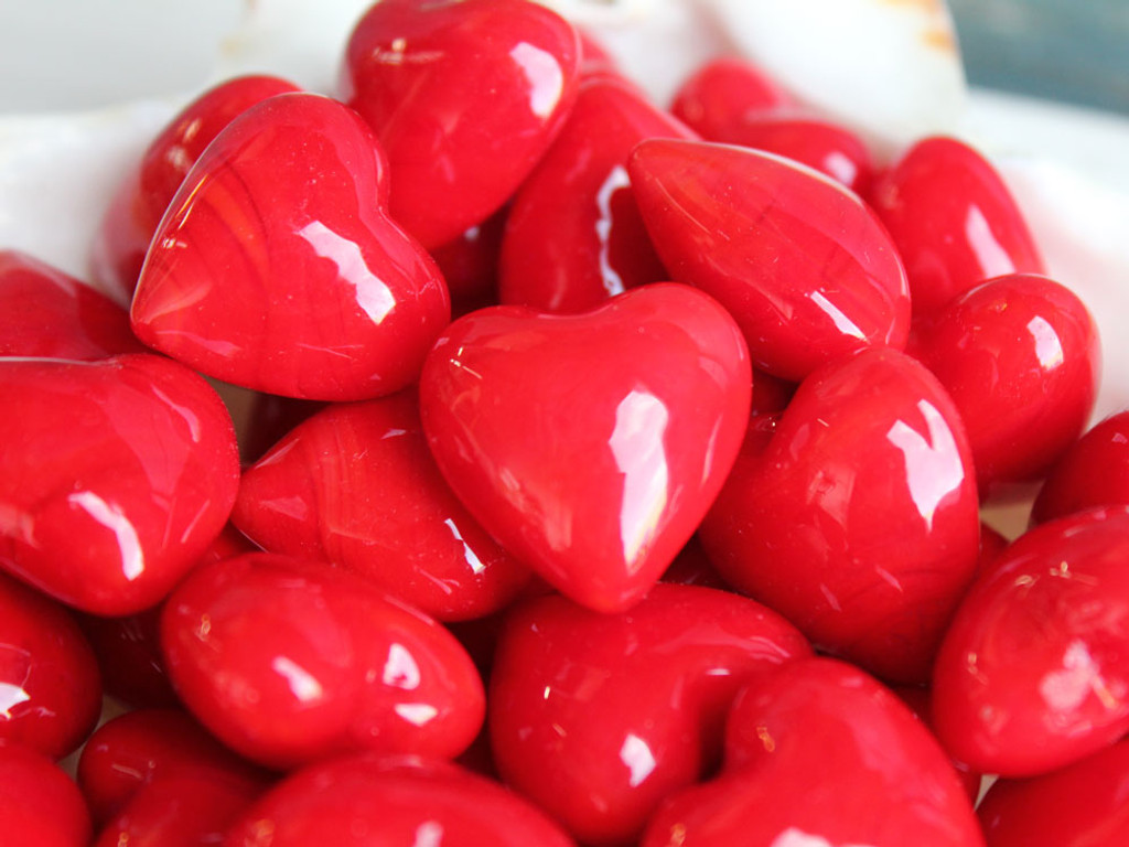 Red Glass Hearts