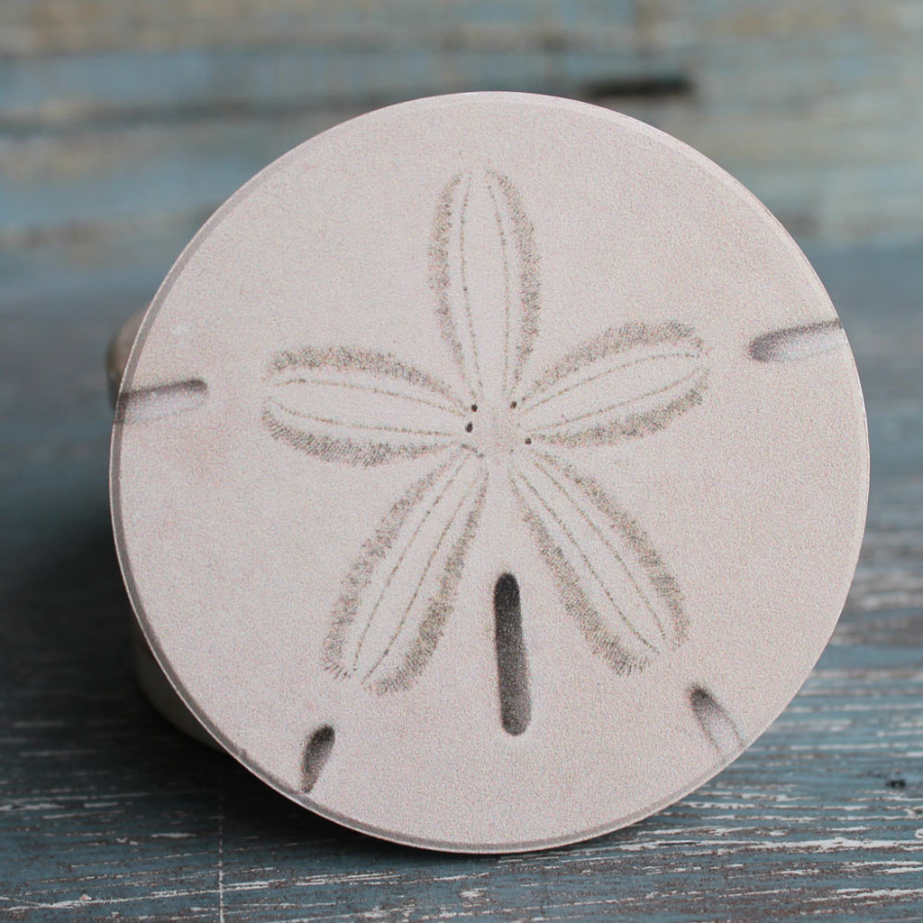 sand dollar car coaster beach cottage cup holder coasters