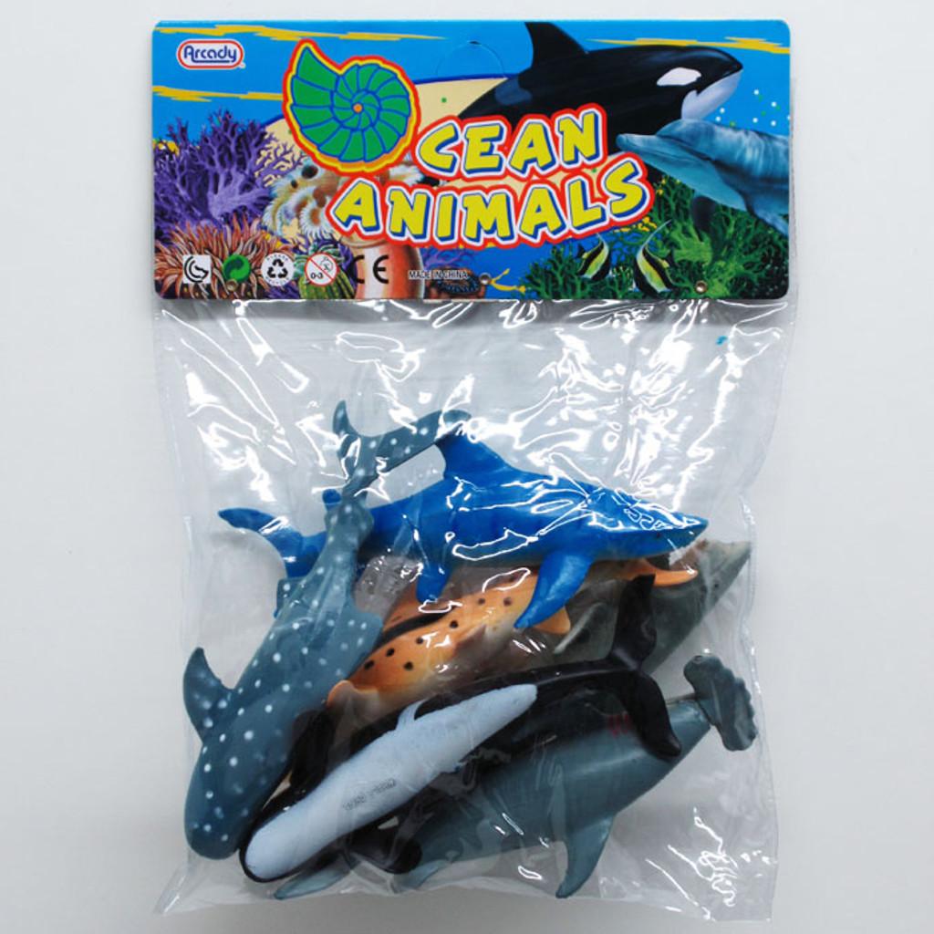 Shark Toy Set : Shark and whale ocean animals toys kids beach party