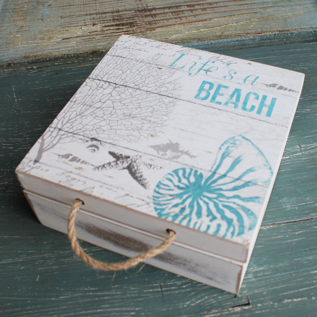 Life's a Beach Box with Rope Handle