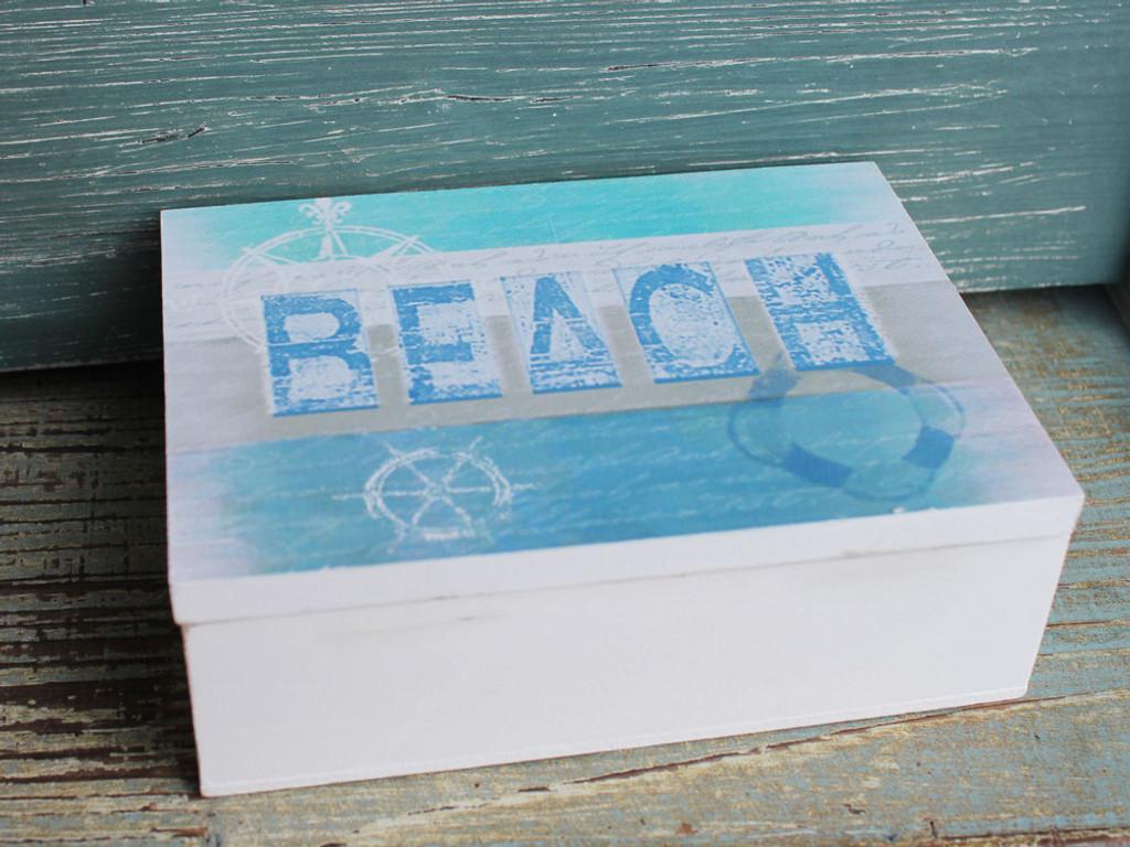Nautical Blue Beach Box