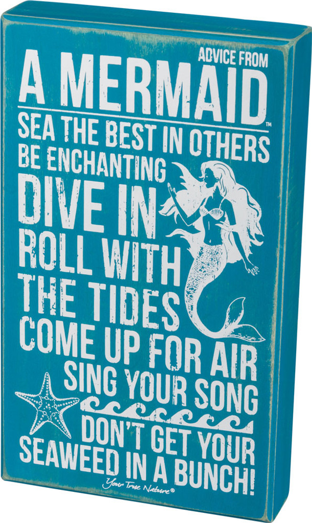 Advice from a Mermaid Box Sign