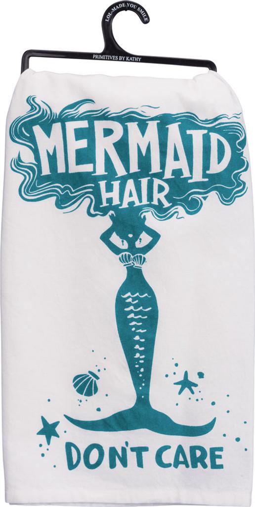 Mermaid Hair Don't Care Cotton Tea Towel