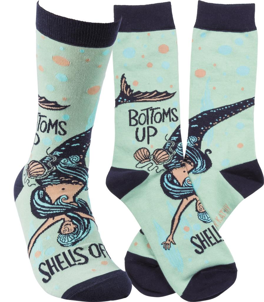 Bottom's Up Mermaid Socks