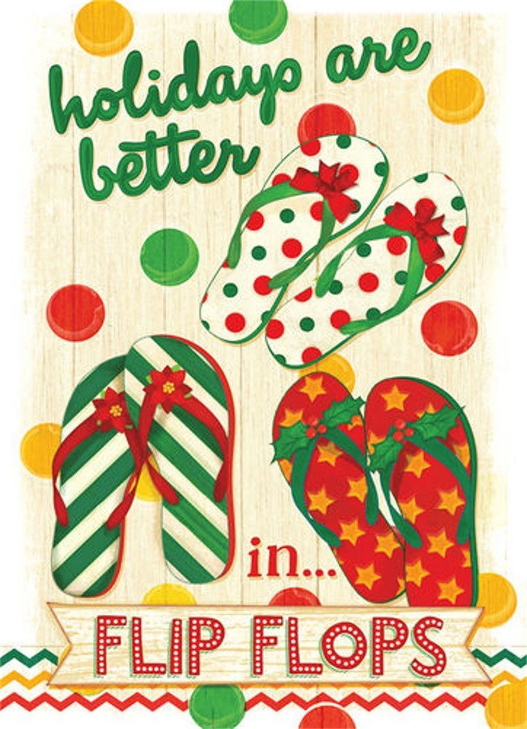 Better in Flip Flops Holiday Cards - Coastal Christmas Stationery ...