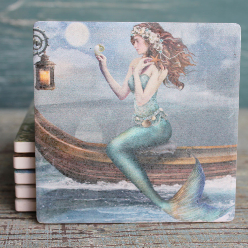 Mermaid on a Boat Coasters