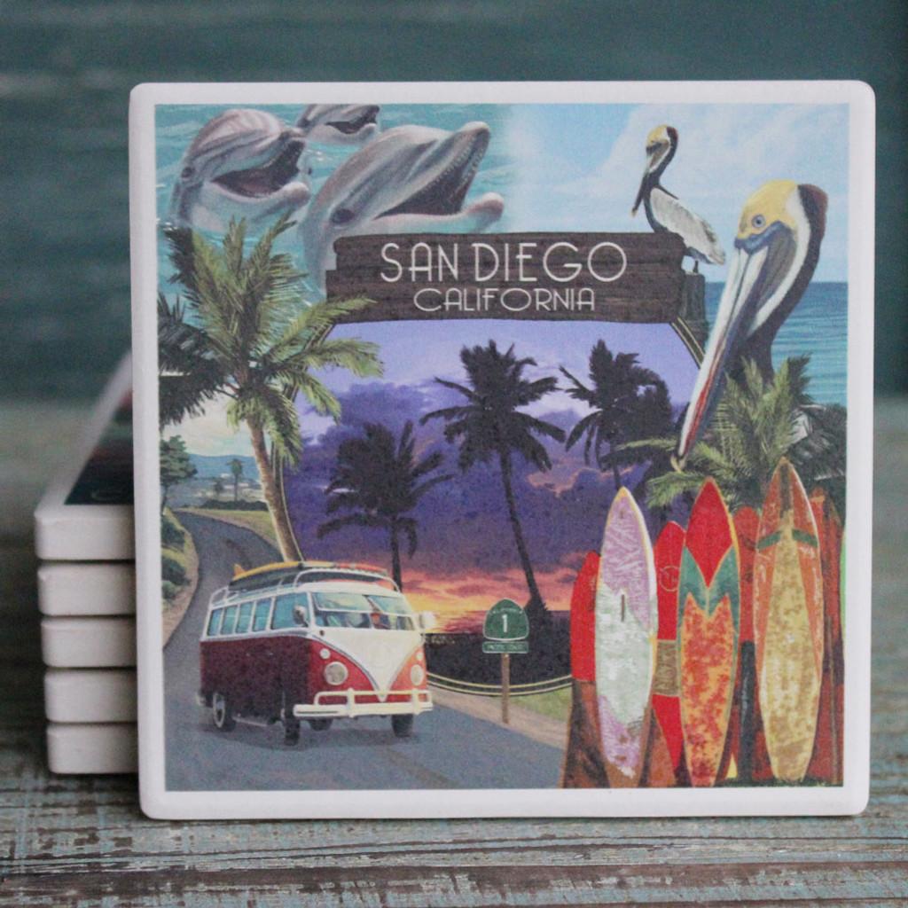 San Diego Southern California Montage Coaster