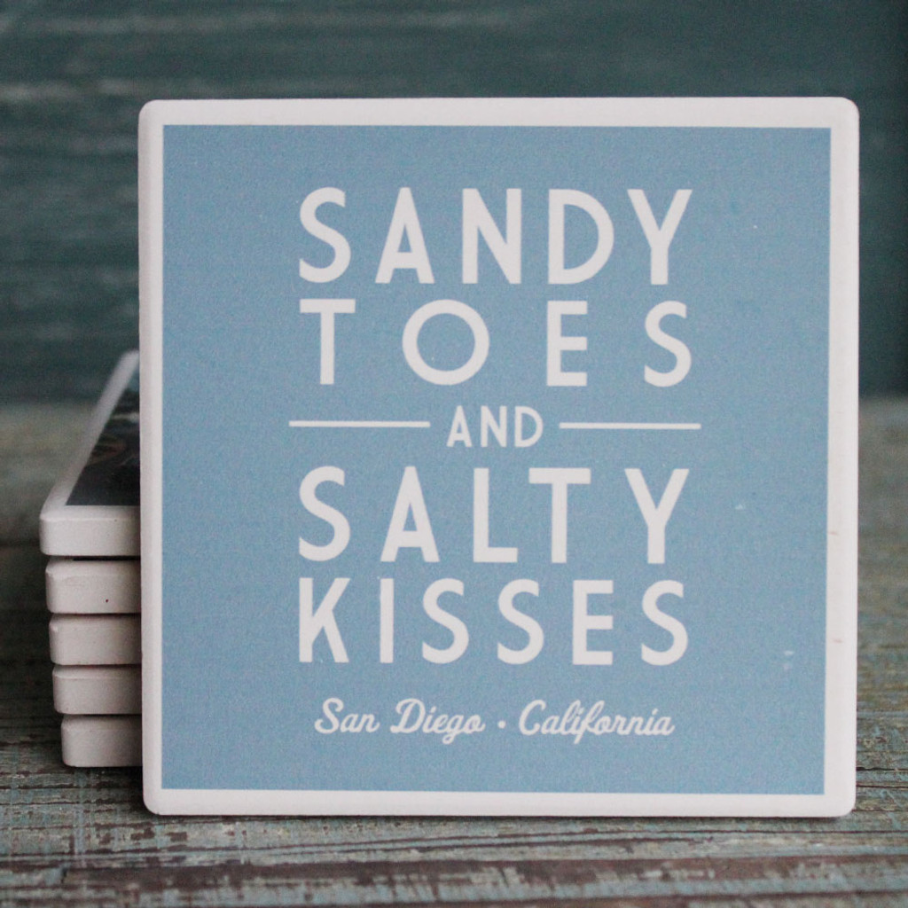 Sandy Toes and Salty Kisses San Diego Coaster
