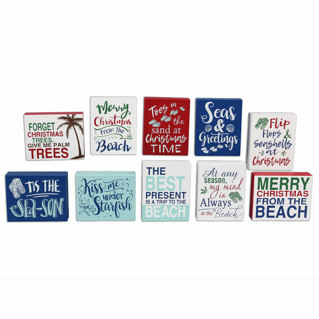 small beach christmas signs set of 10