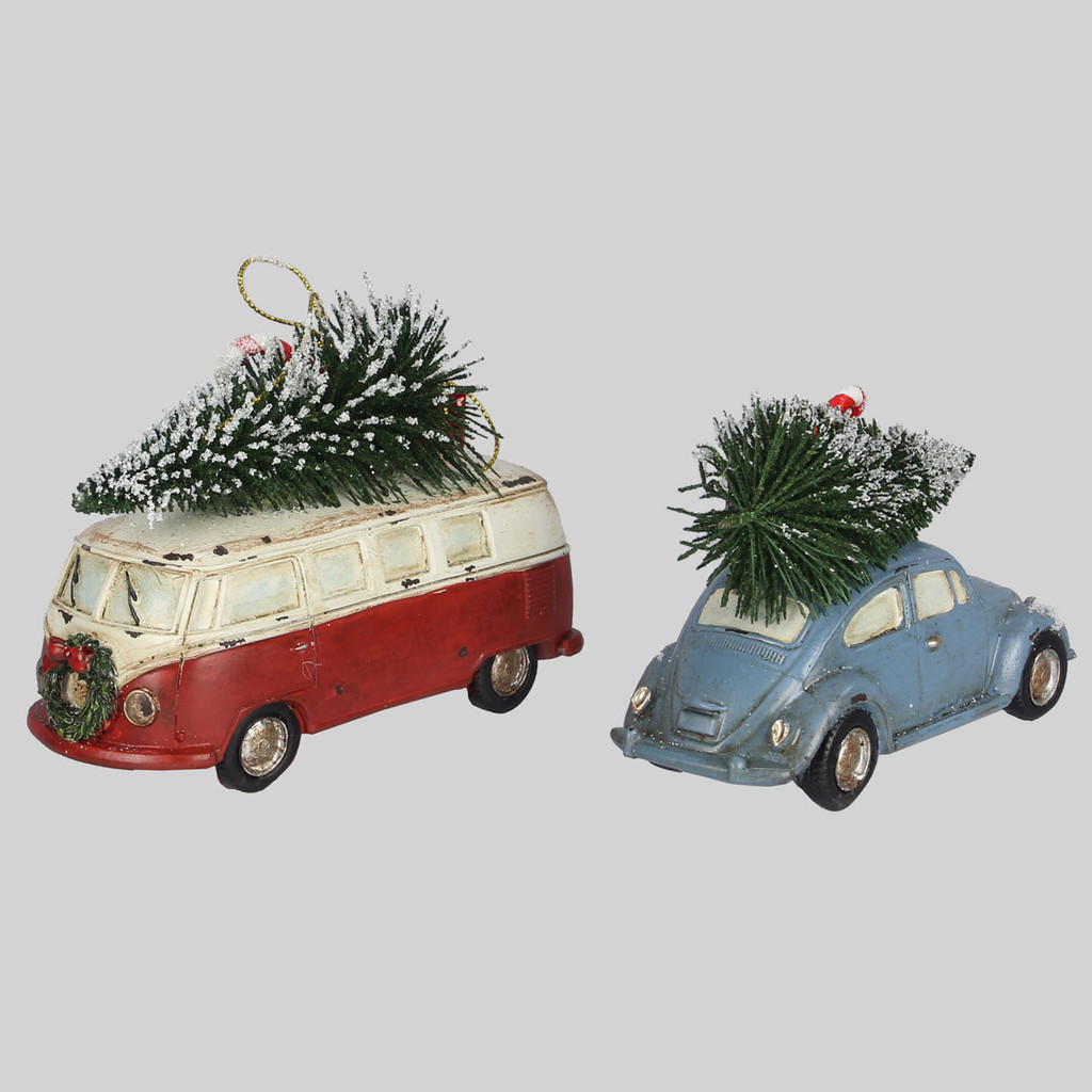 Christmas Bus & Car Set