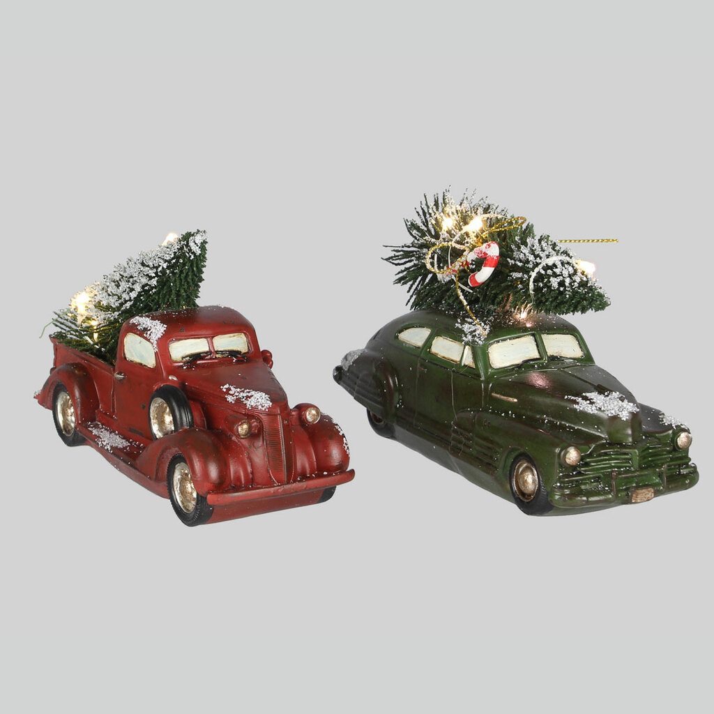 Lighted Christmas Car & Truck Set