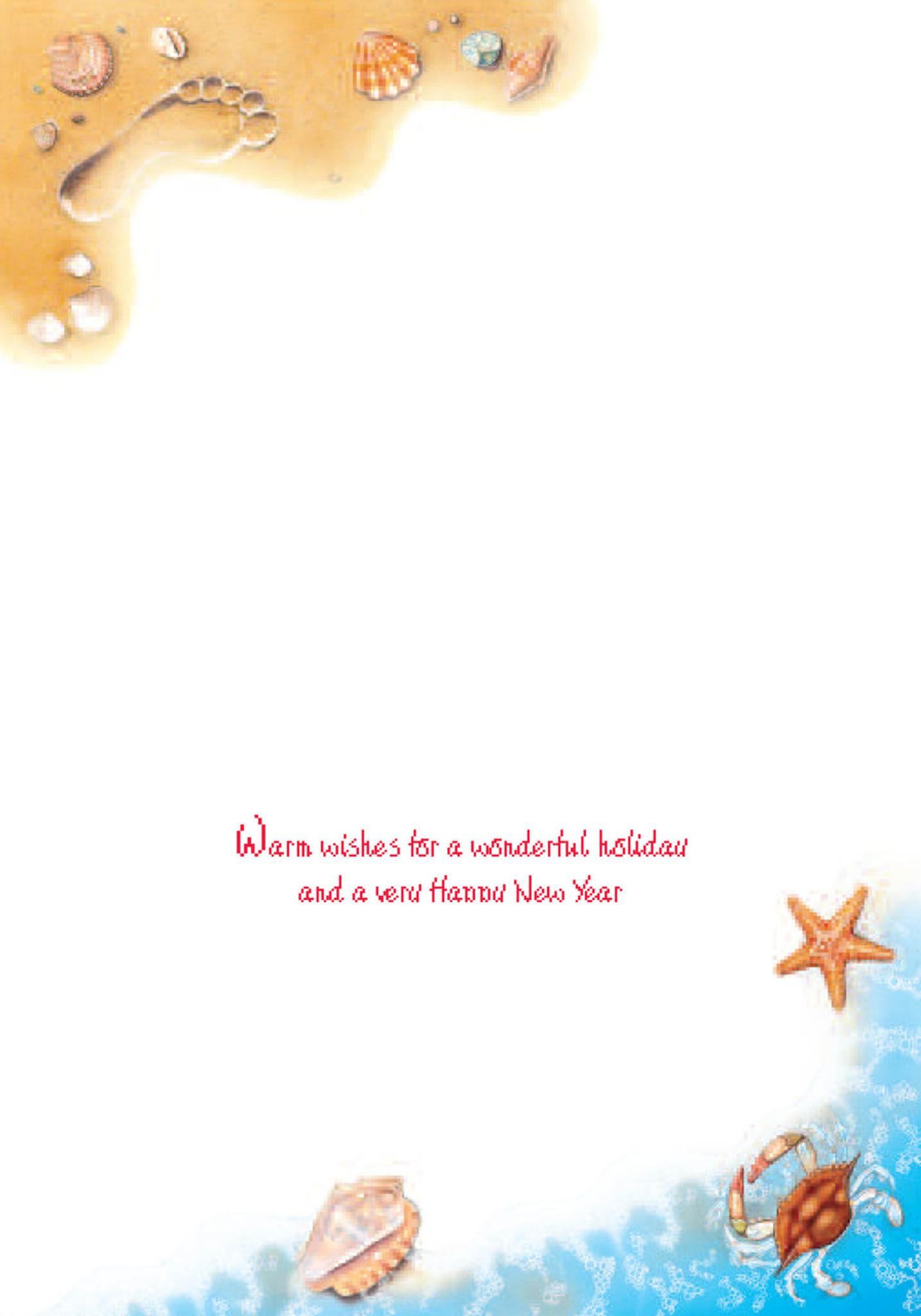Seasons Greetings Surf Holiday Cards Coastal Christmas Stationery