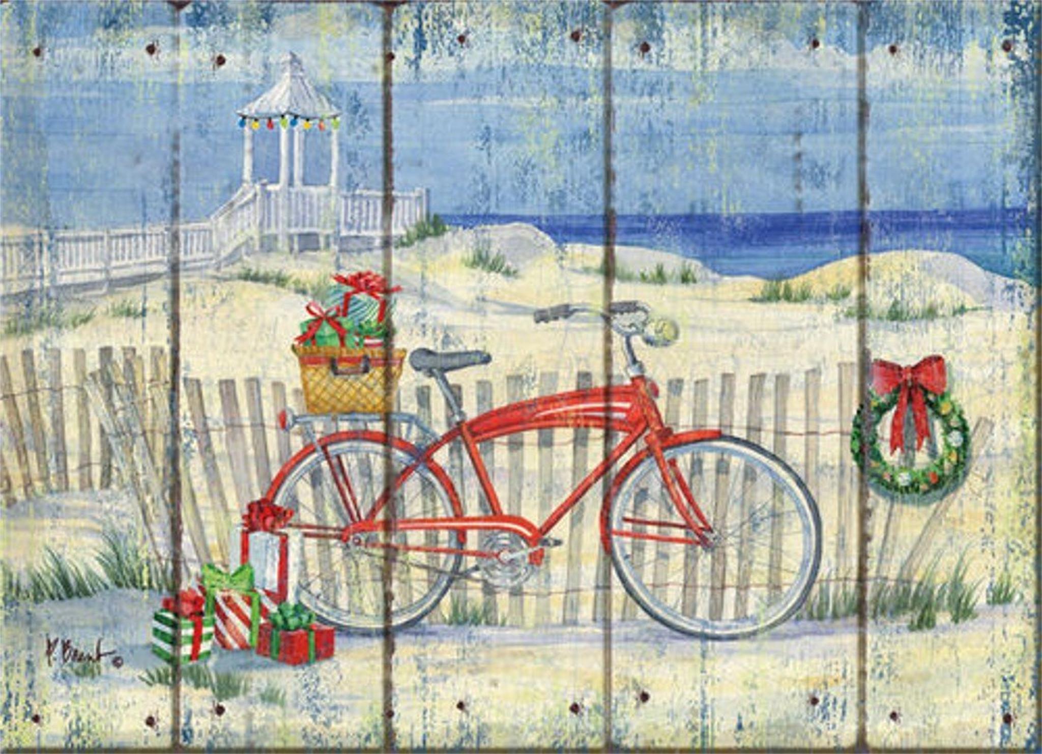 Beach Cruiser Holiday Cards Coastal Christmas Stationery
