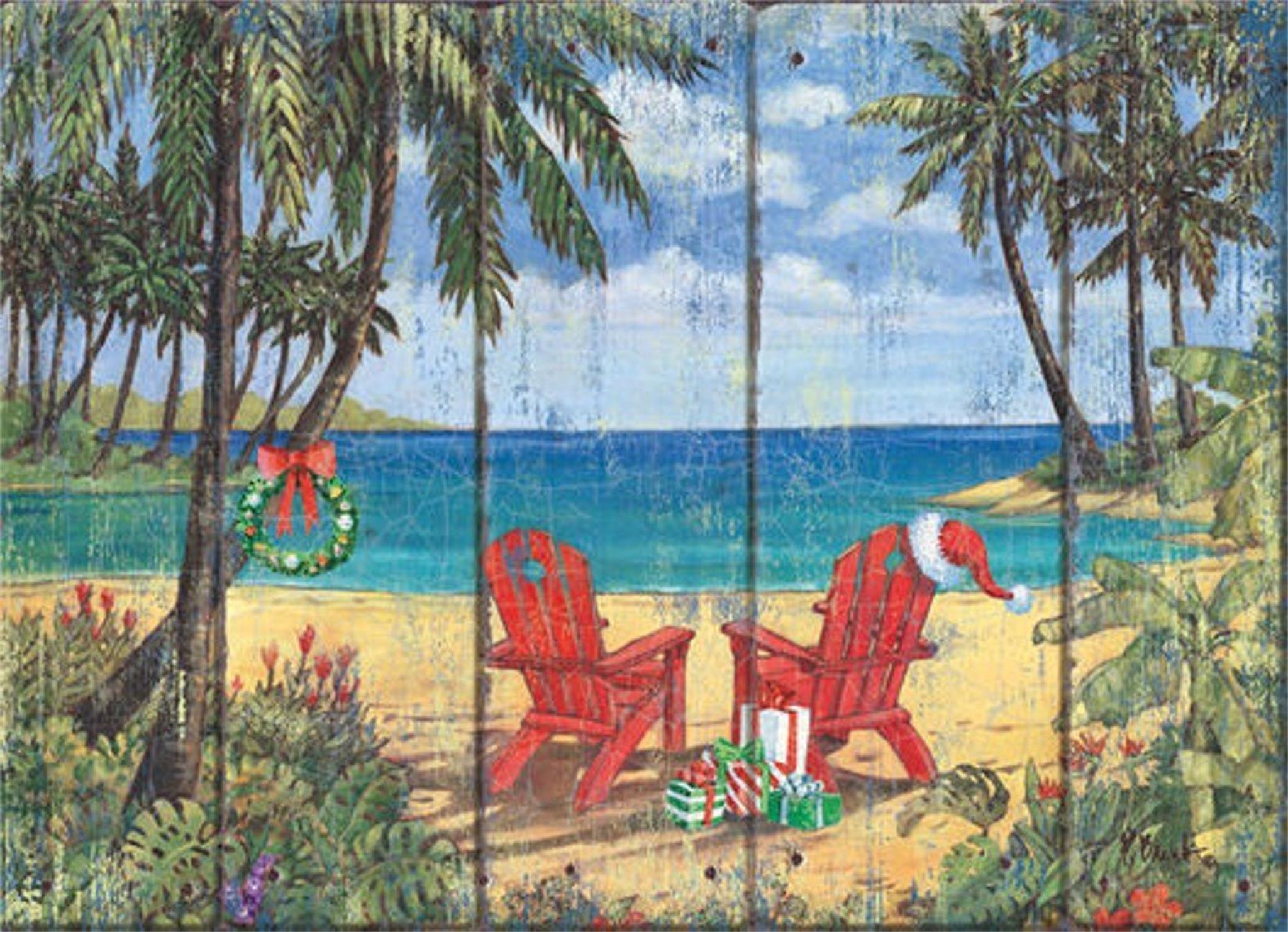 Discovery Bay Adirondack Chair Holiday Cards Coastal Christmas
