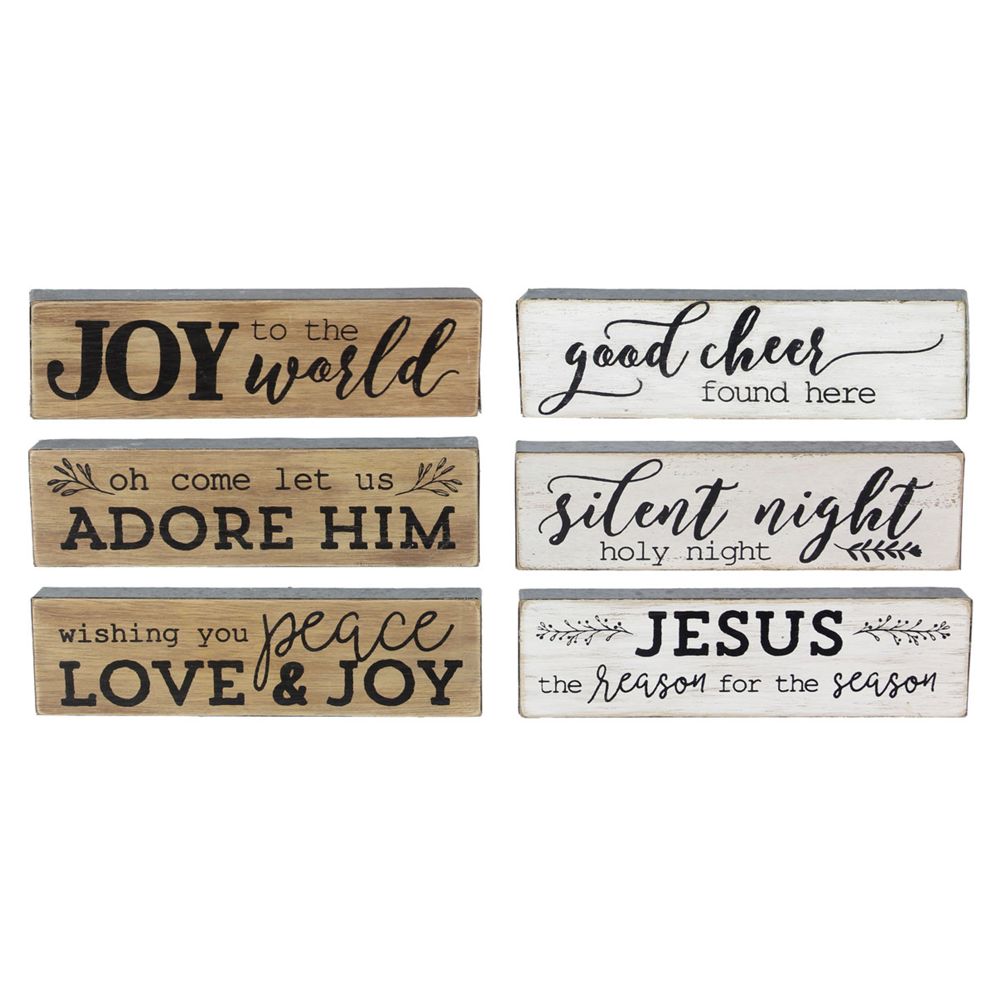 Joy Christmas Wood Sign Set - Religious Christmas Decor - California ...