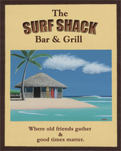 The Surf Shack Bar & Grill Metal Sign