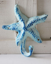 Blue Starfish Wall Hook