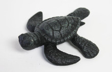 Green Iron Sea Turtle Figure