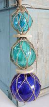 Triple Blue Glass Floats
