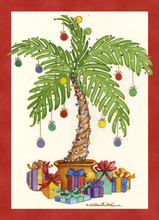Palm Tree with Presents Card