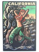 California Mermaid Scratchboard