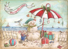 Beach Snowman - LPG Christmas Cards May the joy of Christmas remain with you throughout the new year