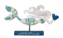 Let's Be Mermaids Wood & Rock Figure