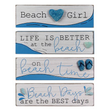 Beach Wood & Rock Signs