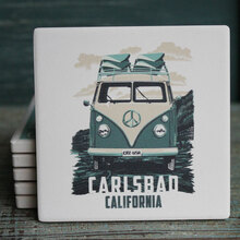 Green VW Van Coaster