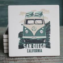 San Diego Green VW Van